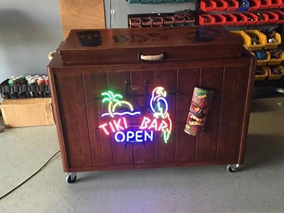 Tiki Bar DEL Neon Signe Home Light Up boisson pub Hawaii Nouvelle-Zélande Tikki