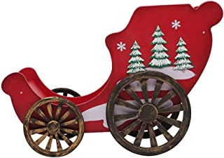 SSBH Grand Décorations de Noël Motoneige Cerfs panier en bois massif Motoneige, Décorations de Noël en bois motoneige, cou...