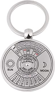 Antique 50 Years Perpetual Calendar Keychain Metal Key Ring Accessory 2007 to 2056