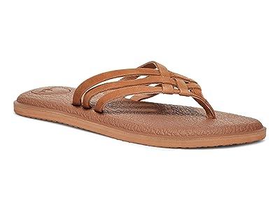 Sanuk Yoga Salty Leather (Tan) Women