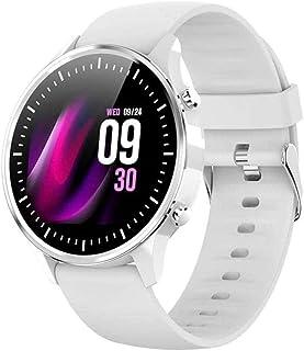 hwbq Smart Horloge 1,28-inch Full-Touch kleurenscherm Oproep Informatie Synchronisatie Herinnering Sport Gegevens Push Arm...