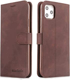 Positive Cover Compatible with iPhone X, brown PU Leather Wallet Flip Case for iPhone X