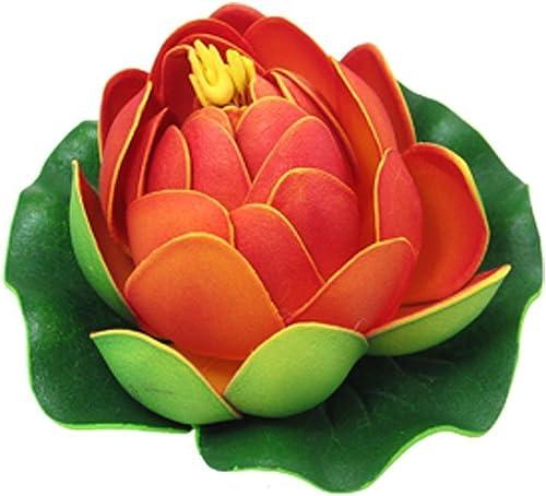 Mallofusa Aquarium Garden Pond Floating Lotus Decoration (Red)