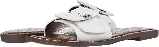 Bright White Smooth Nappa Leather