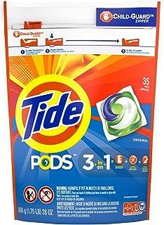 Tide Pods Original Liquid Laundry Detergent Pacs, 35 Count