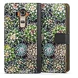 Étui Compatible avec LG G4 Étui Folio Étui magnétique Design Abstrait Cactus