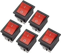 M1MI Boat Rocker Switch DPST ON/OFF Snap in 16A 250V/20A 125V 4 Pin AC Rocker Switch Red (5PCS)
