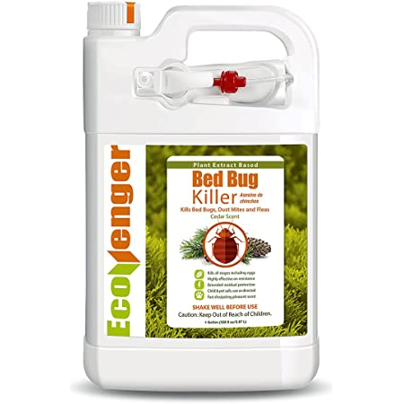 EcoVenger (Formerly EcoRaider) Bed Bug Killer with Remote Sprayer 1Gal - Kills 100% All Stages on Contact- Kills Resistant Bugs- Kills Eggs- 14 Day Residual Protection- Non-toxic- Child & Pet Friendly