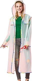 Zilee Men Women Windproof Raincoat Waterproof Rain Jackets - Boys Girls Rainsuit Rainwear Reusable Rain Coat Slicker Jumps...