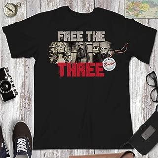 Free The Three Hell Zombie Halloween Vintage Shirt Customized Handmade Hoodie/Sweater/Long Sleeve/Tank Top/Premium T-shirt