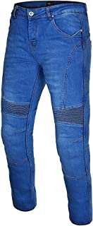 Gentry Choice Mens Biker Style Jeans Blue Motorbike Pant Reinforced with Kevlar® Lining