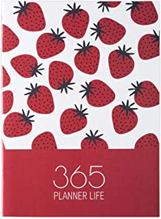$22 » Calendar Planner Pocket Calendar Strawberry 2021 Agenda Planner Organizer A4 Notebook Journal Monthly Daily Planner School