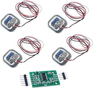 4pcs 50kg Load Cell Half-Bridge Human Body Scale Weight Weighting Sensor + 1pc HX711 Amplifier AD Module for Arduino WIshioT