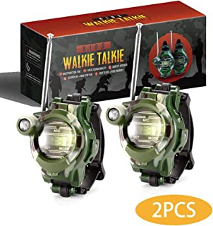 zizwe Kids Walkie Talkies Watches Outdoor Toys Two-Way Radios Walky Talky for Children, Cool Camouflage Toy