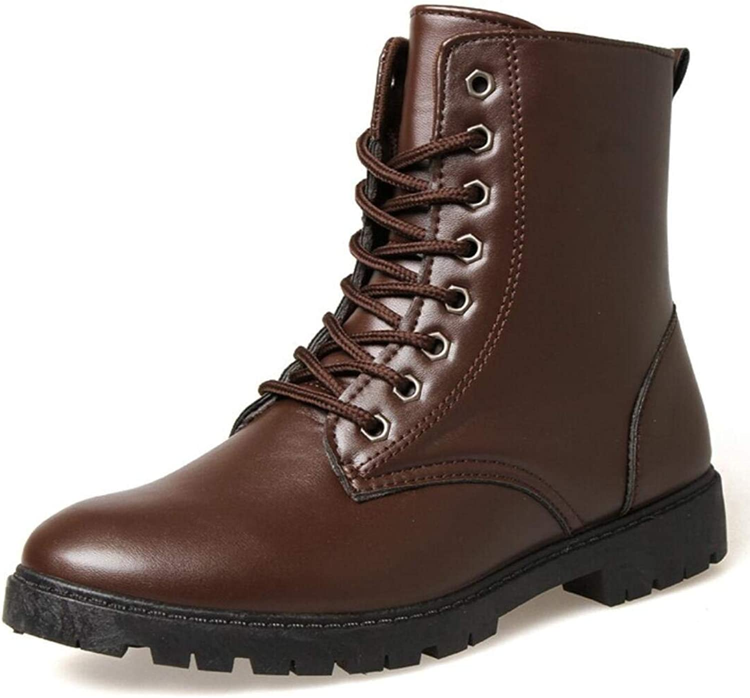 XWZG Men'S Work boots Fashion High Boots To Help Outdoor Leisure Martin Boots