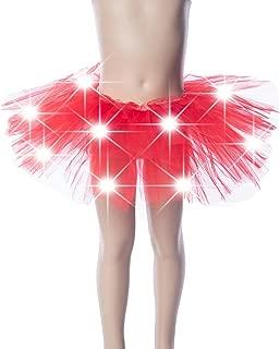 WPNAKS Baby Girls Light Up LED Tutu Mini Skirt Elastic Dress Costume Party Dance for Kids