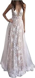 Women Dress Elegant Women Fashion Lace Backless Deep V Neck Sleeveless Long Dress Casual Dress