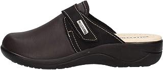 VALLEVERDE Pantofole 37300 Nero in Pelle