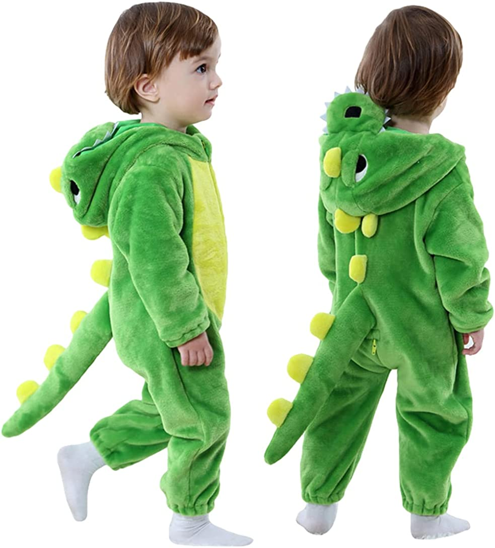 Toddler specialty shop Infant Dinosaur Costume Flannel Onesies Anim Soft Hooded Ranking TOP19
