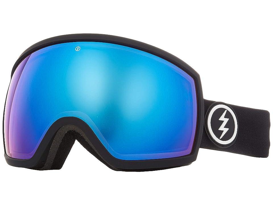 Electric Eyewear EGG (Matte Black Brose/Blue Chrome) Athletic Performance Sport Sunglasses