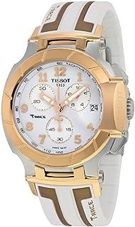 T-Race White Dial SS Silicone Chrono Quartz Men's Watch T0484172701200