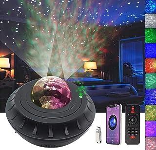 Proyector de luz nocturna con temporizador y control remoto, Monkey Home 2 en 1 Ocean Wave proyector para dormitorio de bebés, salas de juegos, cine en casa, altavoz de música integrado