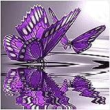 so-buts Diamond mariposas y flores bordado 5d diy Diamond pintura manualidades de punto de cruz Multicolor