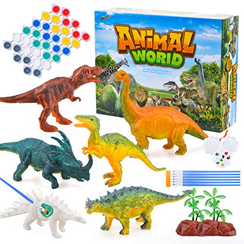 Wiwi Gift for 3-10 Year Old Boys Kids,3D Painting Dinosaurs for Boys Toy Age 4 5 6 7 8 9 for 3D Dinosaur Painting Kits Birthday Gift for Boys Girls Dinosaur Arts Crafts Toy for 4-8 Year Old Boys