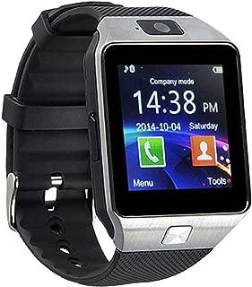 ZXEGA DZ09 Bluetooth Smart Watch with Touchscreen Multifunctional TF Sim Card Support Mens Boys Kids Girls (Black)