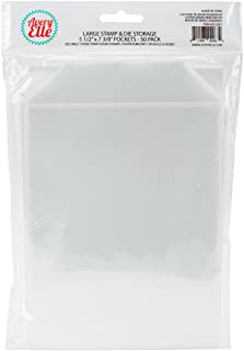 "Avery Elle SS-5001 Stamp & Die Storage Pockets 50/Pkg Large 5 ½"" x 7 3/8"" , white/clear , Single Pack"