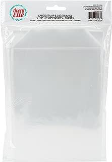 "Avery Elle SS-5001 Stamp & Die Storage Pockets 50/Pkg Large 5 ½"" x 7 3/8"