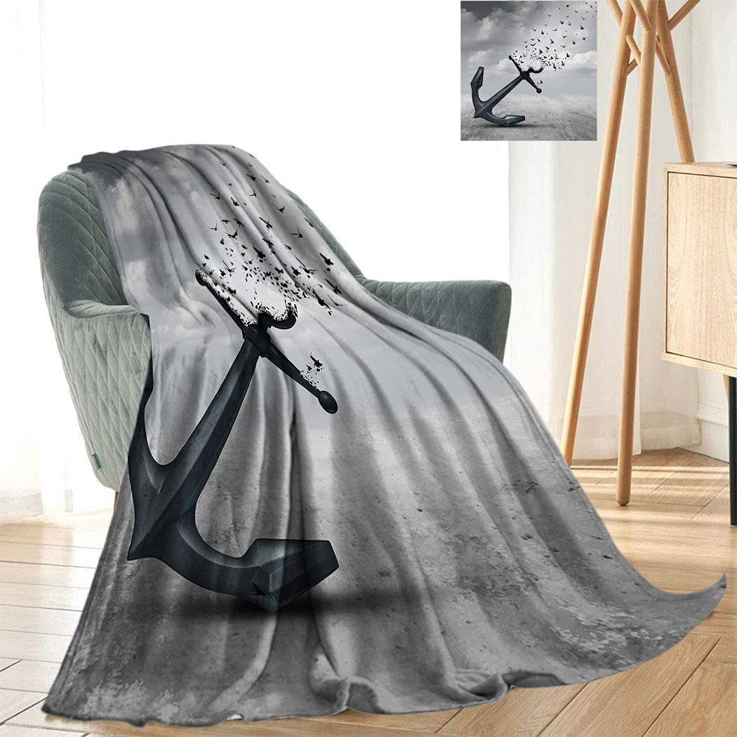 Flying Birds Decor Soft and Cute Anchor Blanket Many popular brands Max 61% OFF into Plush Turns