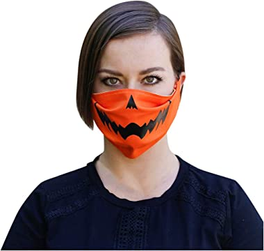 StyleV 1PC Novelty Face Cover Reusable-Unisex Windproof Shield Funny Halloween Cosplay Costume Neck Gaiter Men