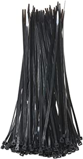 Cable Zip Ties 12 Inch Self Locking Nylon Wire Ties, Weather and UV Resistant, 50 Lbs Heavy Duty Plastic Straps Black 100 ...
