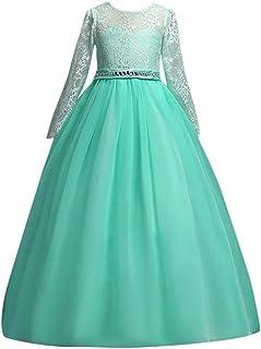 32311692bd3a0 Susenstone Robe Enfant Mignon Fille Ceremonie Anniversaire De Princesse  d honneur Mariage avec Bowknot Longue