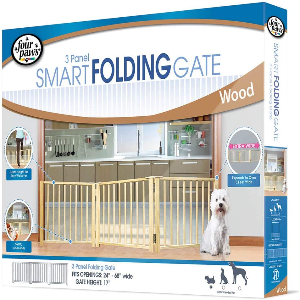 Four Paws Free Standing Walk Over Pet Gate
