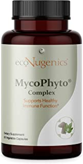 EcoNugenics - MycoPhyto Complex - 60 Capsules - Immune System Support Mushroom Blend Supplement Reishi, Turkey Tail, Cordy...