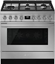 Smeg CPF36UGGX Portofino Pro-Style Freestanding All-Gas Range,36-Inch with 5 Burners, 4.5 Cu.Ft Capacity, Stainless Steel