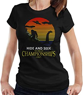 Bigfoot and Loch Ness Monster Hide and Seek Champions Women's T-Shirt