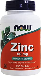 Now Foods - Zinc 50 Mg. 250 Tablets