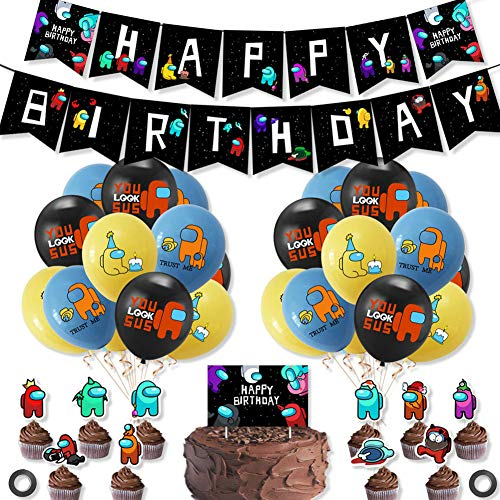 BAIBEI Theme Party Decoration Set, 38pcs Kit de Decoraciones de Cumpleaños Birthday...