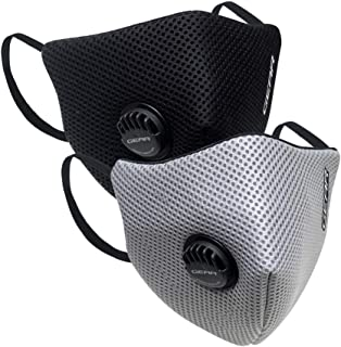 Gear OXYVENT G95 Adult Unisex Reusable & Washable 6 Layer NABL Certified Outdoor Protection Face Mask (Pack of 2) Black, L...