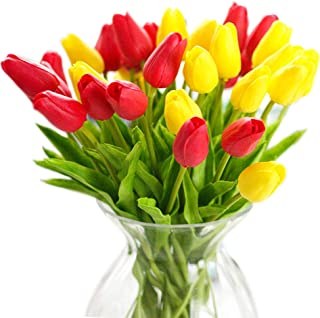 multi colored tulip bouquet