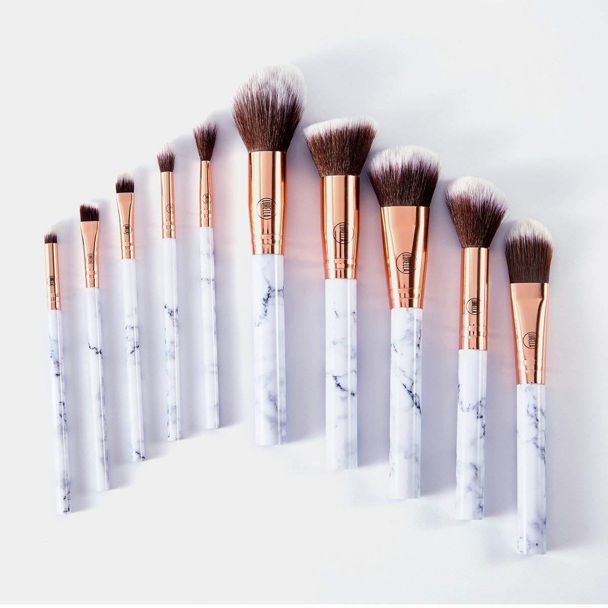 Lurella Cosmetics Deluxe Marble Makeup Brush 10 Set: Direct sale of manufacturer Superlatite P Essential