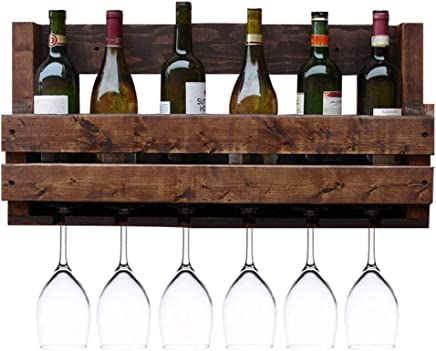Floating Wine Glass Holder Storage Wine Set Inverted Bar Shelf One Shelves Wall Mounted Cup Cabinet,Goblet Holder MZGH ISLAND 47.2 Inch Hanging Wrought Iron Wine Rack