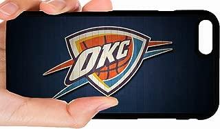 OKC Thunder Dark Blue Wood Background Basketball Phone Case Cover - Select Model (iPhone 6 Plus)