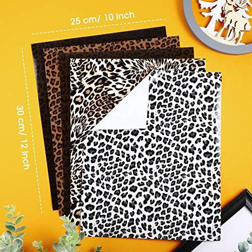 10-Sheets-Leopard-Heat-Transfer-Vinyl-Animal-Print-Heat-Transfer-Vinyl-Iron-on-HTV-in-12-x-10-Inch-for-Clothing-T-Shirts-Hats-DIY-Craft-5-Patterns
