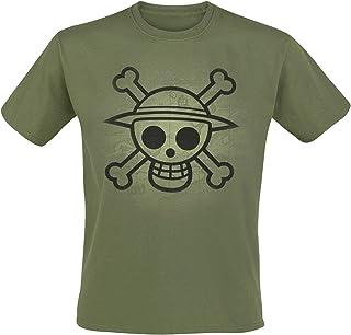 ABYstyle – One Piece – T-Shirt Skull with map Used für Herren, Khaki (XL)