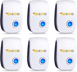 GADINO Ultrasonic Pest Repellent 6 Packs - Indoor Plug, Electronic and Ultrasound Repeller - Insects, Mosquitoes, Mice, Spiders, Ants, Rats, Roaches, Bugs Control - Eco Friendly Repellent