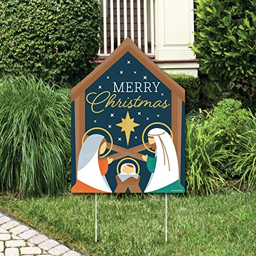 Big Dot of Happiness Holy Nativity - Party Decorations - Manger Scene Religious Christmas Welcome Yard Sign